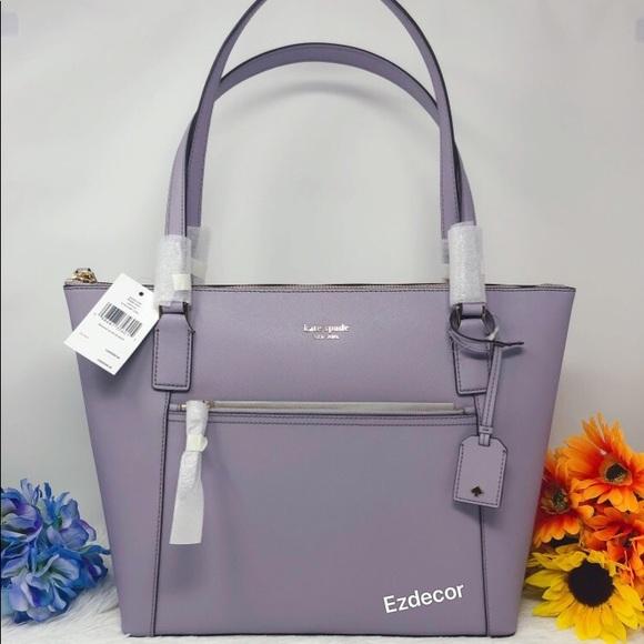 kate spade Handbags - NWT Kate Spade Cameron Pocket Leather Tote Lavendr